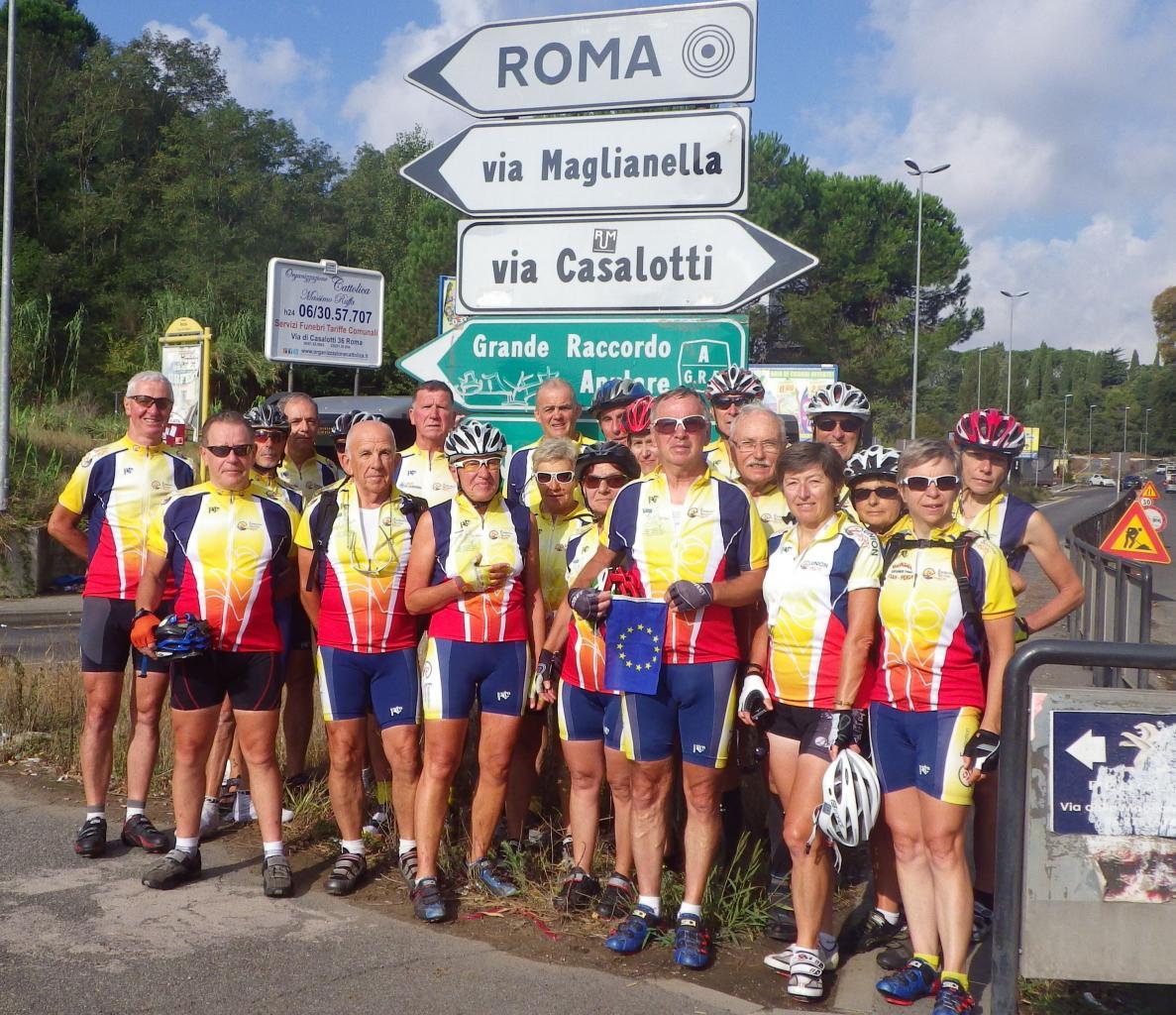 2014 - Trait d'union Européen - Modane - San Marin – Rome - Tour de Sardaigne